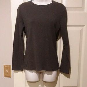 Loft brown long sleeve shirt size L